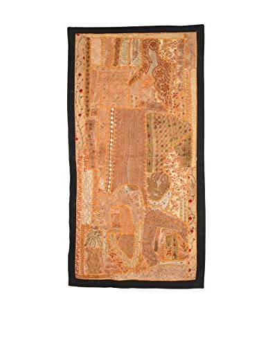 Uptown Down One-of-a-Kind Patchwork Runner, Golden