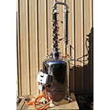 26 Gal. Moonshine, E-85 Ethanol Still 4 Bubble Plate Copper & Stainless Turn Key (Color: Stainless Steel and Copper)