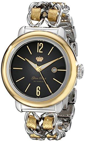 Glam Rock BAL Harbour mujer 40 mm dorado reloj de pulsera de piel cristal mineral GR77028