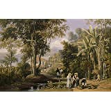 Garden Scene on the Braganza Shore, by William Havell (Print On Demand)