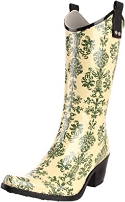 Nomad Women's Yippy Rain Boot,Green Victorian,6 M US