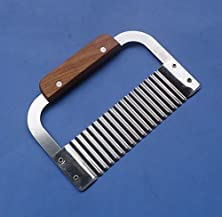 buy Wooden Handle Corrugated Ripple Wave Knife French Fries Knife Pastry Handmade Soap Cutting Device Potato Cutter Cake Tool 04056