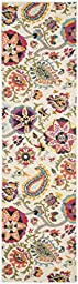 Safavieh Monaco Collection MNC229A Modern Colorful Floral Ivory and Multi Runner (2\' 2\