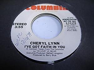 Cheryl Lynn I've Got Faith In You