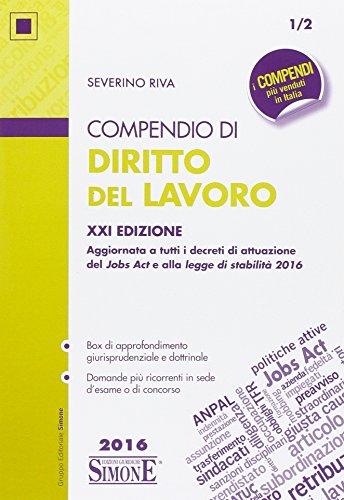Compendio di diritto del lavoro PDF