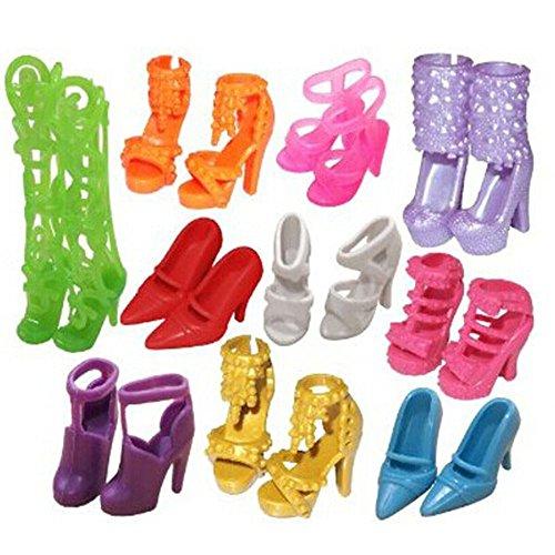 bluelansr-10-paires-assorties-mignon-poupee-chaussures-pour-poupee-barbie-differentes-styles