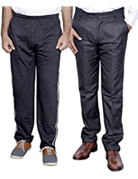 Indistar Mens Formal Trousers With Men's Premium Cotton Lower (Length Size -38) With 1 Zipper Pocket And 1 Open... - B01GEIPT8O