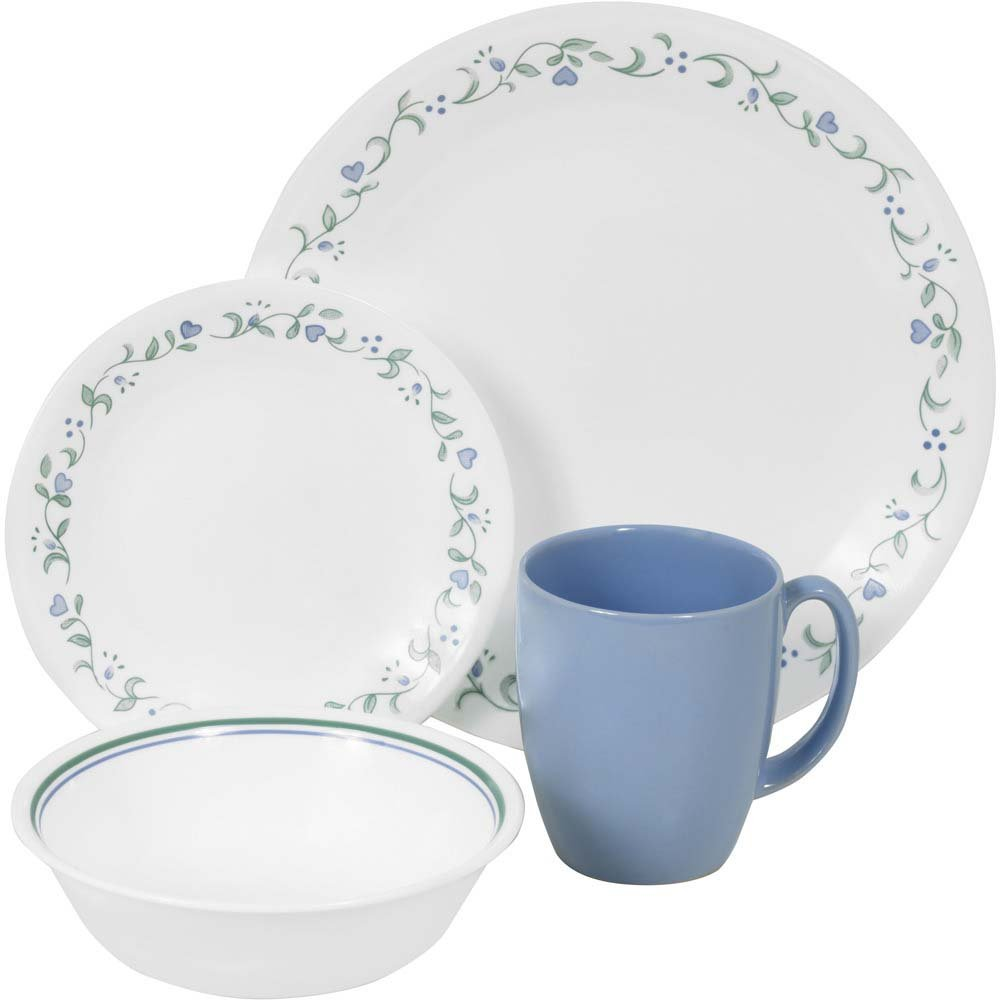 Corelle® dinnerware has it all: Plates, bowls and mugs are safe to use in the microwave, oven and dishwasher. They also resist breaks, chips, scratches and stains. There's a Corelle® pattern for every tabletop style and taste, from traditional embossed designs to contemporary square shapes and colors.