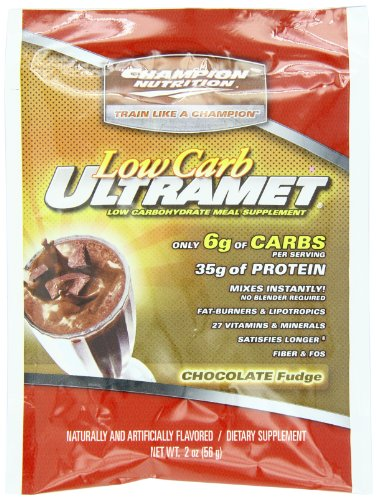 Champion Nutrition Low Carb Ultramet, Chocolate Fudge, 2 Ounce (Pack Of 60)