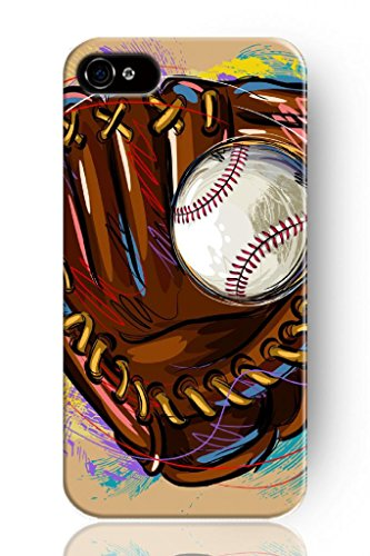 SPRAWL Classic Design Hard Plastic Case for Mobile Phone Apple Iphone 4 4S 4G–Baseball and Catching Gloves