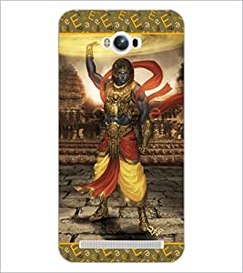 PrintDhaba Lord Krishana D-3077 Back Case Cover for ASUS ZENFONE MAX ZC550KL (2016) (Multi-Coloured)