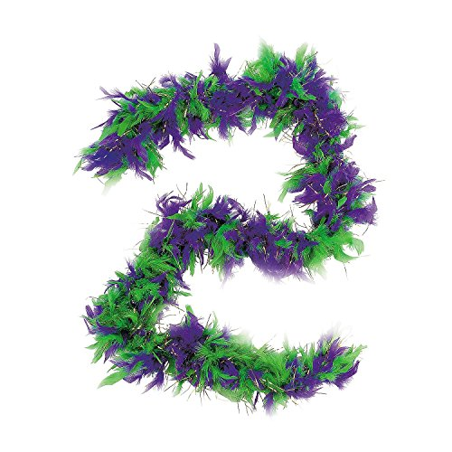 Mardi Gras Purple / Green / Gold Feather Boa 72""