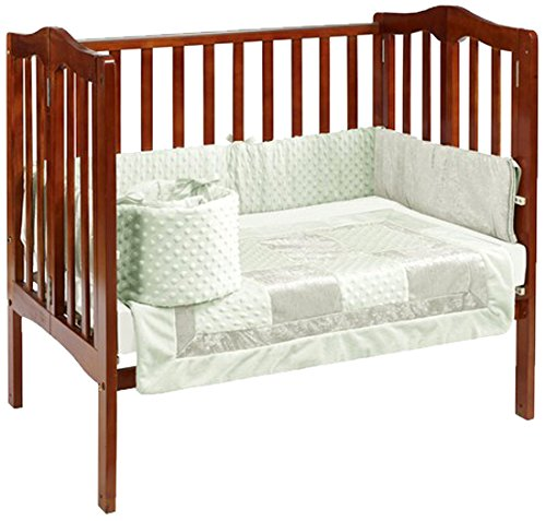Baby Doll Croco Minky Port-a-Crib Bedding, Sage/Ivory