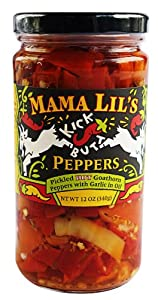 Mama Lils Kick Butt Peppers In Oil Spicy 12oz Jar from Mama Lil's