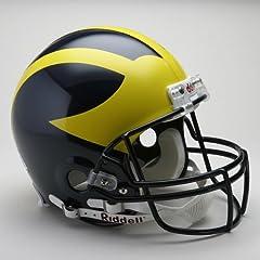 MICHIGAN WOLVERINES NCAA Riddell VSR-4 ProLine AUTHENTIC Football Helmet by ON-FIELD