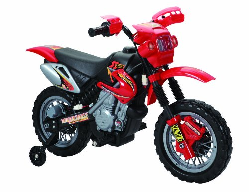 Charles Jacobs RIDE ON KIDS MOTOCROSS Electric Scrambler MOTORBIKE 6V Battery Operated Toy bike car in Red w/ 1 YEAR 5 STAR WARRANTY!