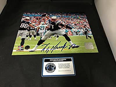 Rob Gronkowski Signed Autographed New England Patriots 8x10 Photo Witnessed COA & Hologram