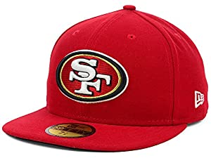NFL Mens San Francisco 49ers On Field 5950 49ers Red Game Cap By Era by New Era Cap Company