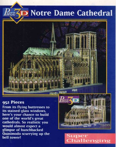 Notre Dame Cathedral, 952 Piece 3D Jigsaw Puzzle Made by Wrebbit Puzz-3D