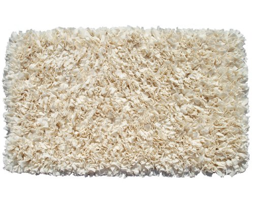 The Rug Market 02217A Handmade Rugs, Shaggy Raggy Cream, Off-White