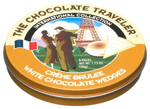 The Chocolate Traveler Cr?me Brulee White Chocolate Wedges, 1.75-Ounce Tins (Pack of 12)