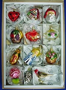 Amazon.com: Bride's Tree Ornaments Set of 12 By Inge-Glas ...