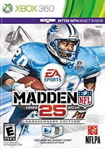 Madden NFL 25 Anniversary Edition with NFL Sunday Ticket -Xbox 360 by EA Sports