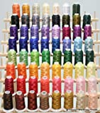 New Brother 63 Colors Embroidery Thread Set 40wt Polyester Threads & Thread Rack from ThreadNanny
