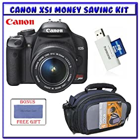 Canon EOS Rebel XSi (a.k.a. 450D) SLR Digital Camera Kit (Black) EF-S 18-55mm f/3.5-5.6 IS Lens (Black) +</div></body></html>
