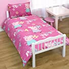 Childrens/Girls Peppa Pig Junior Bed Quilt/Duvet Cover Bedding Set