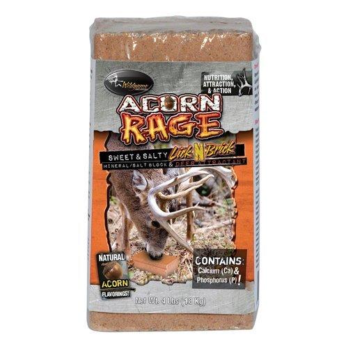 Acorn Rage Deer Salt Block Supplement Attractant Use Mineral Block High Scented