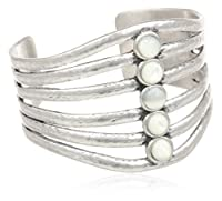 "Lucky Brand Silver Mother of Pearl Cuff Bracelet, 3.50"" by Lucky Brand"