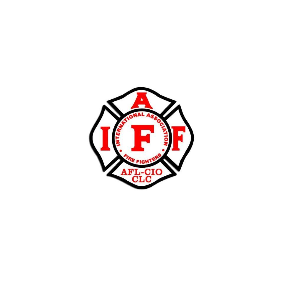 IAFF FireFighters Maltese Cross Shaped Sticker on PopScreen