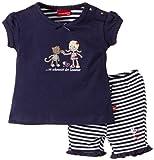 Salt & Pepper Baby - Mädchen Bekleidungsset, gestreift 43228214, Gr. 86, Blau (navy)