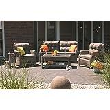Consul Garden Loungegruppe Java Garten Lounge Garnitur Alugestell mit Polyrattan