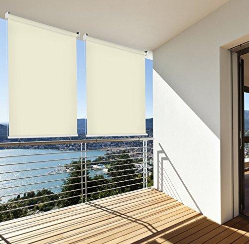 sonnenschutz rollo aussenrollo sichtschutz balkon creme. Black Bedroom Furniture Sets. Home Design Ideas