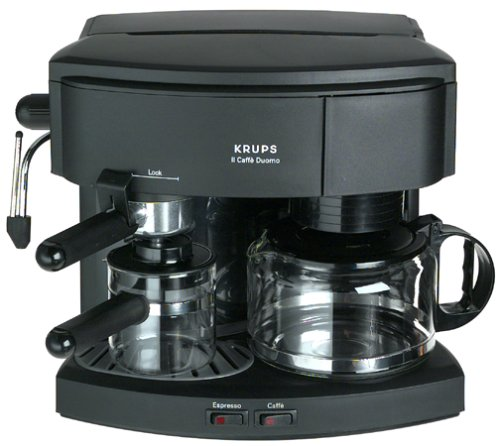 krups 985 42 il caffe duomo coffee and espresso machine black reviews krups espresso machine. Black Bedroom Furniture Sets. Home Design Ideas