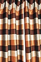 Bright colors buffalo checks faux silk lined rod pocket curtain panel