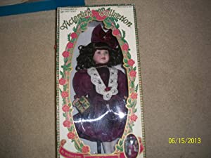 Victorian Collection Limited Collector's 1995 Edition Rebecca by Melissa Jane Genuine Porcelain Doll (Includes Matching Miniature Ornament)