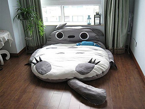 totoro-double-bed-sleeping-bag-pad-sofa-bed-mattress-for-both-kids-or-adult-grey-65-49ft
