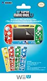 Wii U GamePad and Remote Decorative Skin and Screen Filter (New Super Mario Bros U Version)
