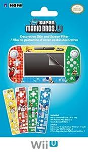 HORI Wii U GamePad & Remote Decorative Skin and Screen Filter (New Super Mario Bros U Version)