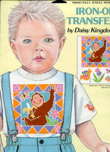 Daisy Kingdom Iron-On Transfer ~ Jolly Jungle Monkey