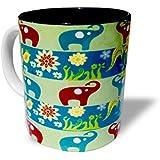 Blue Sky Designz Multi Elephant - Grey Green Ceramic Mug Multicolour