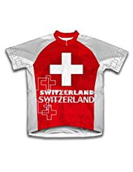 Switzerland Short Sleeve Cycling Jersey for Women