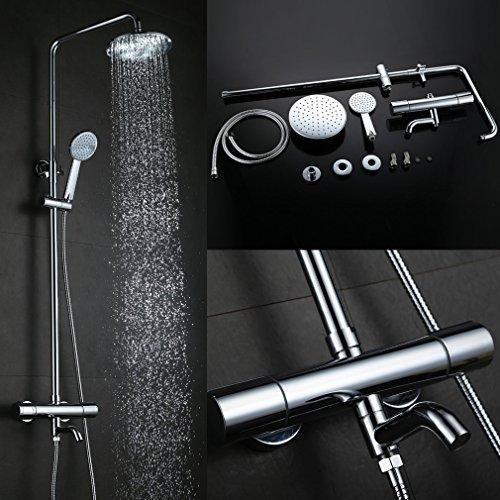 Wasserfalldusche Duschkopf : cm) Duschkopf Duschsystem Regendusche Shower Wasserfall Dusche Set mit