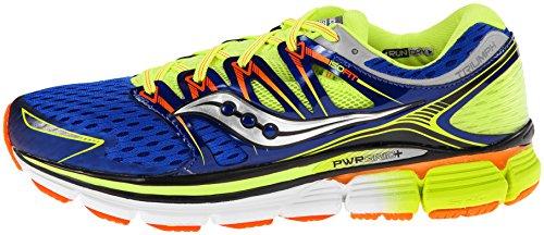 Saucony Men S Triumph Iso Running Shoe Blue Citron Vizi Orange
