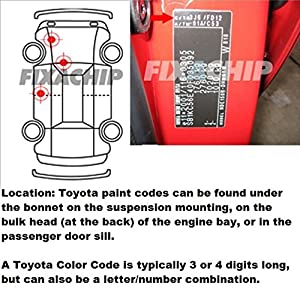 Toyota Car Stone Chip Touch Up Paint With Applicator Brush Car Touch Up Paints Toyota Any Colour Any Year Yaris Auris Avensis Mr2 Rav Prius by fixachip