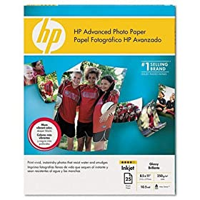 HP Advanced Photo Paper, glossy (25 sheets, 8.5 x 11-inch)