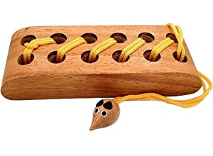Mouse and Cheese - String Brain Teaser Wooden Puzzle